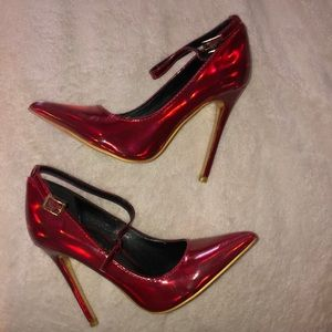 Holo Red Pumps